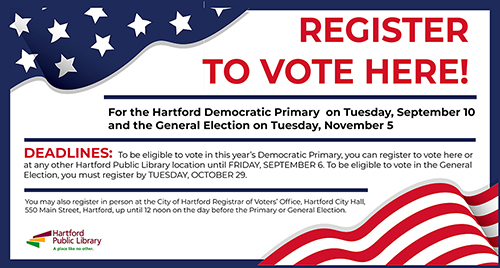 The Hartford Com Myaccount >> Voter Election Info Hartford Public Library